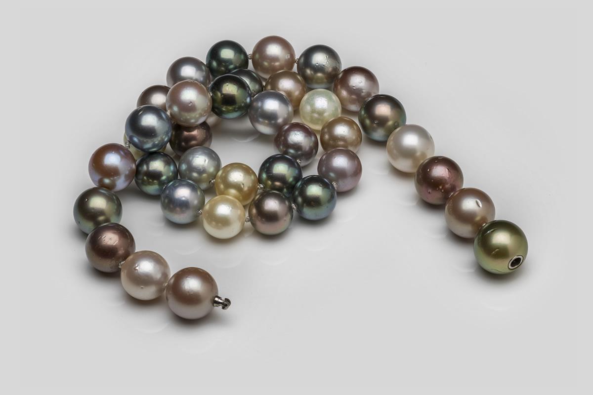 Perlenkette mit Tahitiperlen