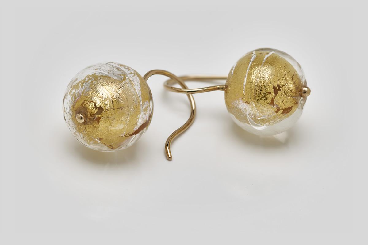 Ohrhänger mit Muranoglas-Perlen
