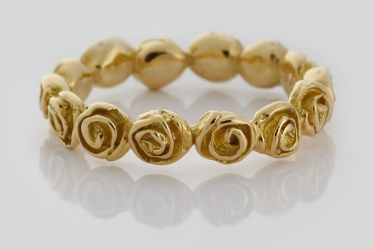 Gelbgold - Rosenring