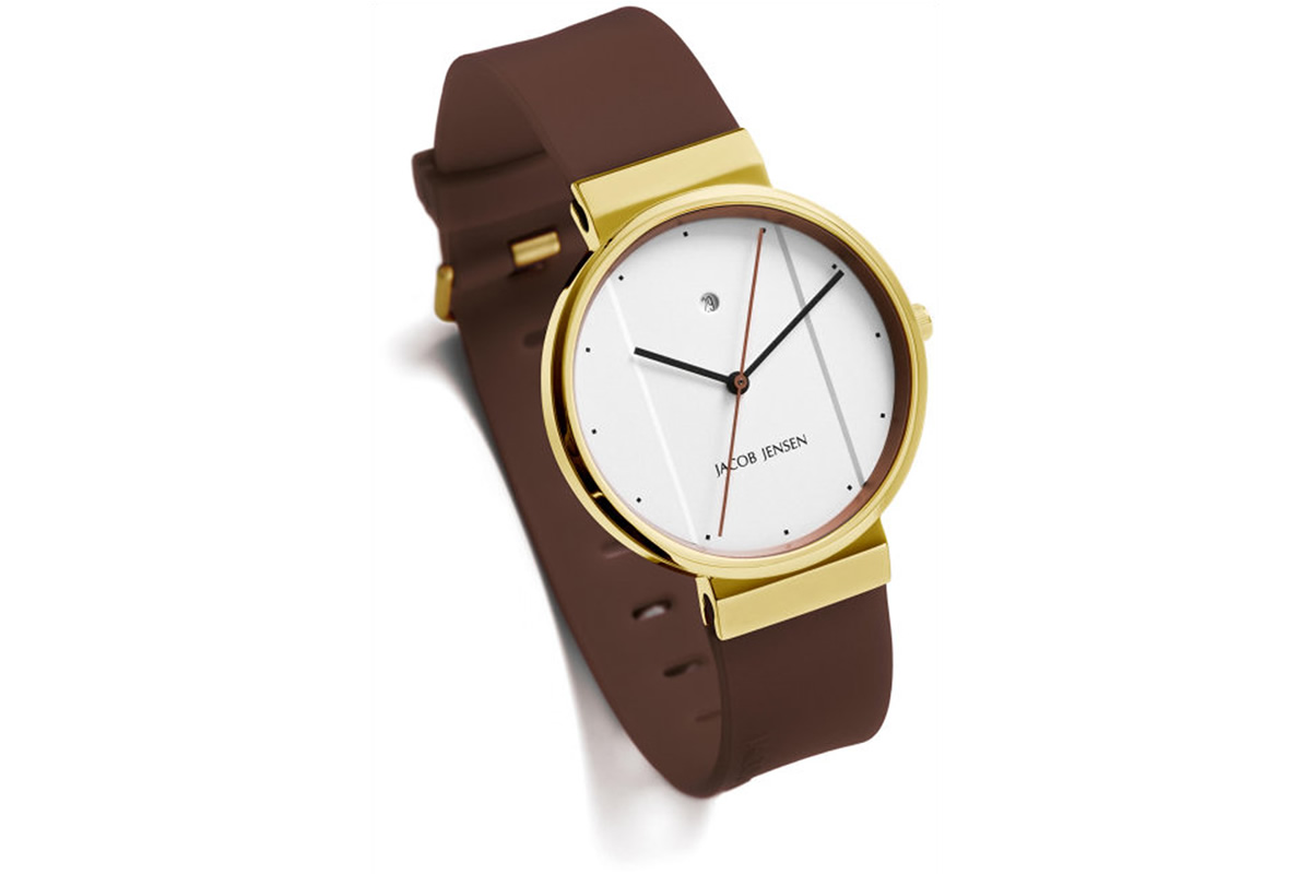 Uhr New Series Jacob Jensen weiss gold