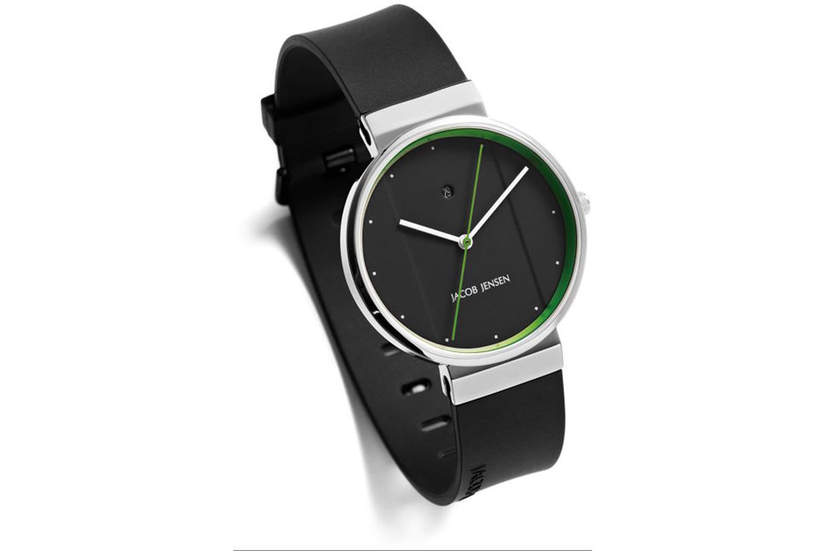 Uhr New Series Jacob Jensen schwarz grün