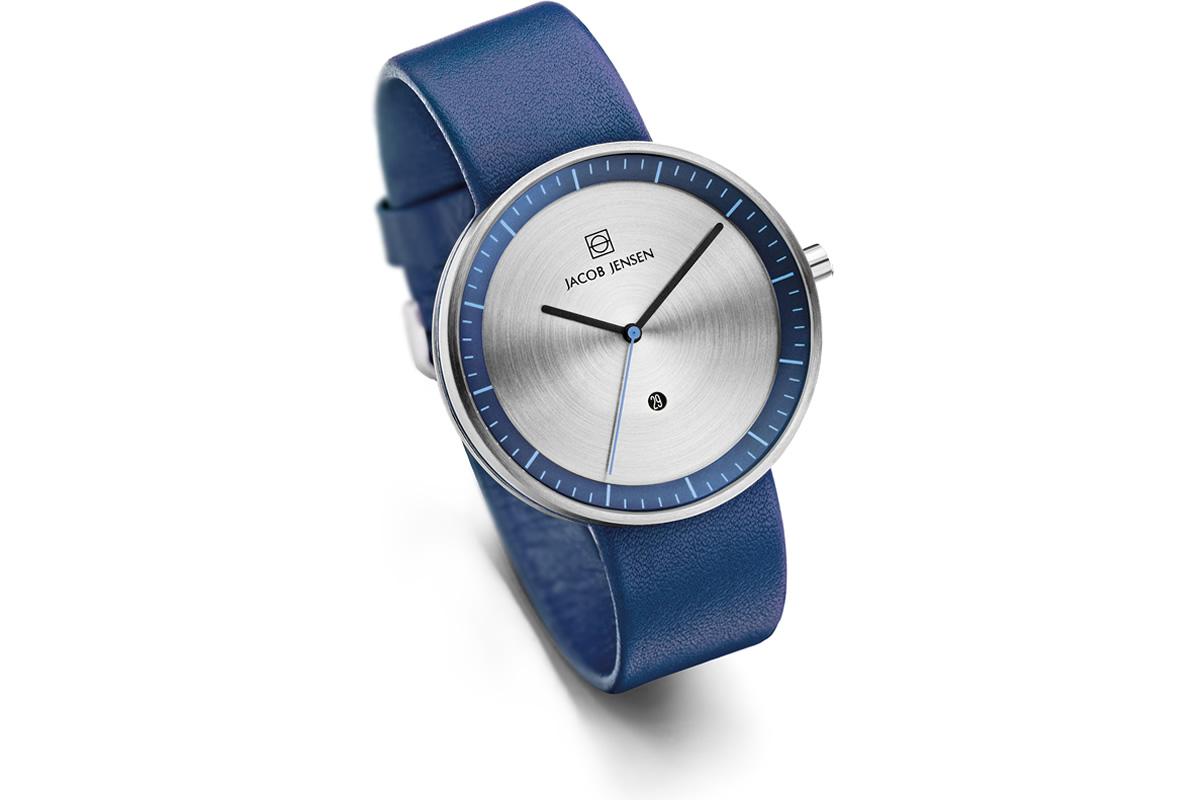 Uhr Strata Jacob Jensen blau