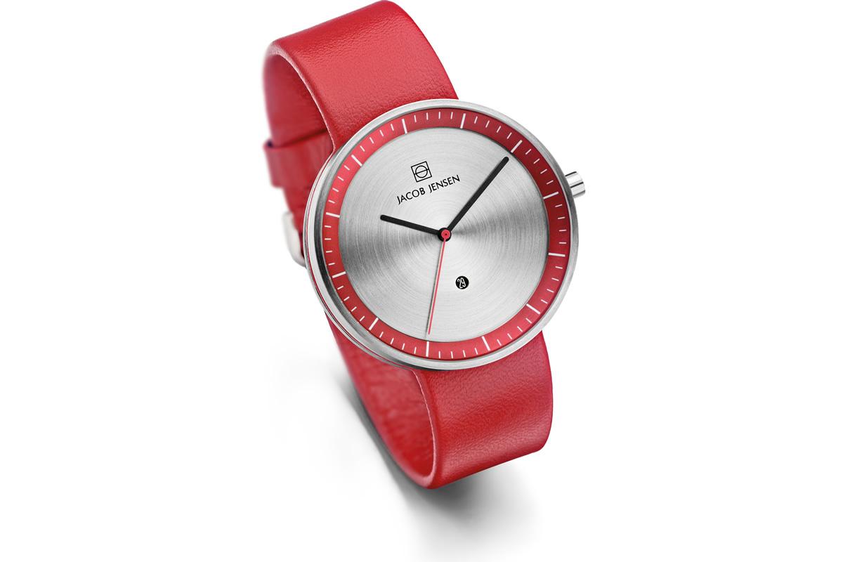 Uhr Strata Jacob Jensen rot