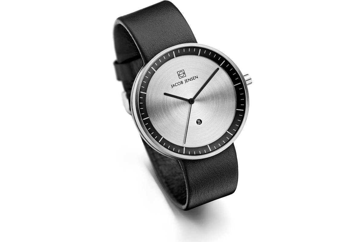 Uhr Strata Jacob Jensen schwarz