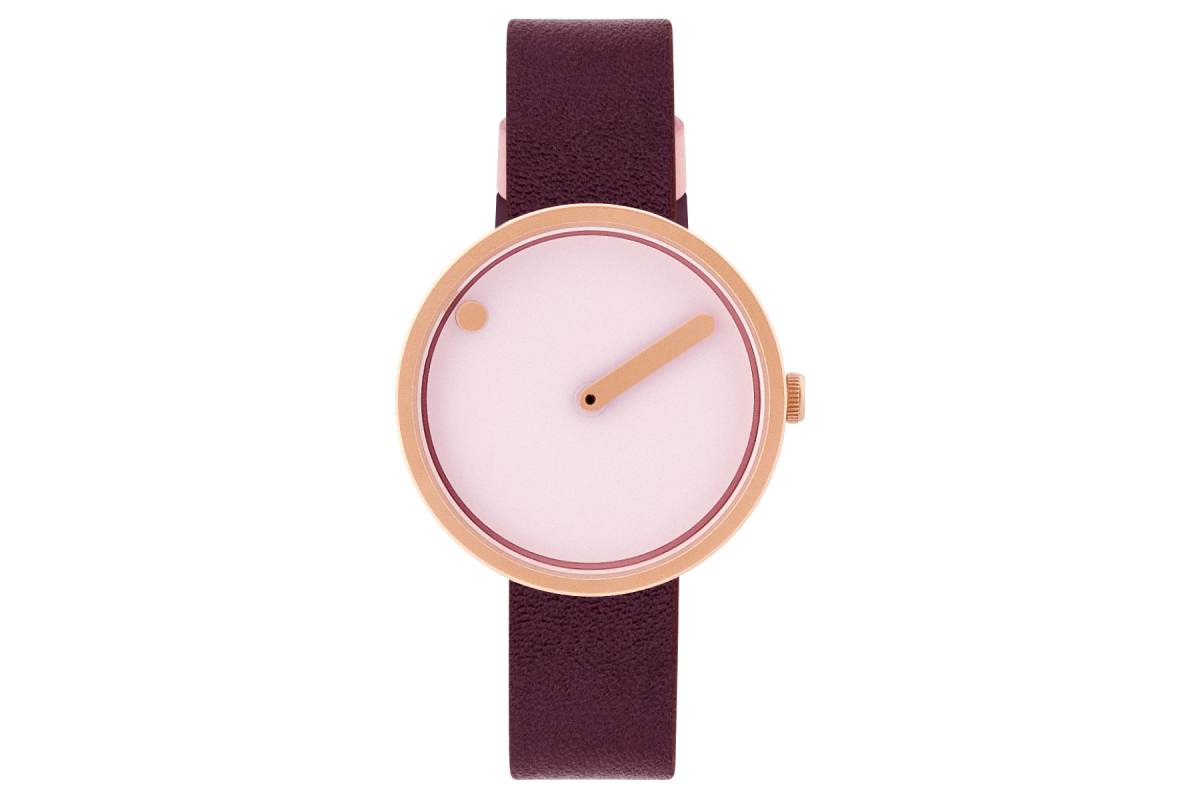 PICTO Designeruhr - Rosé / Rosé-Gold - 30mm