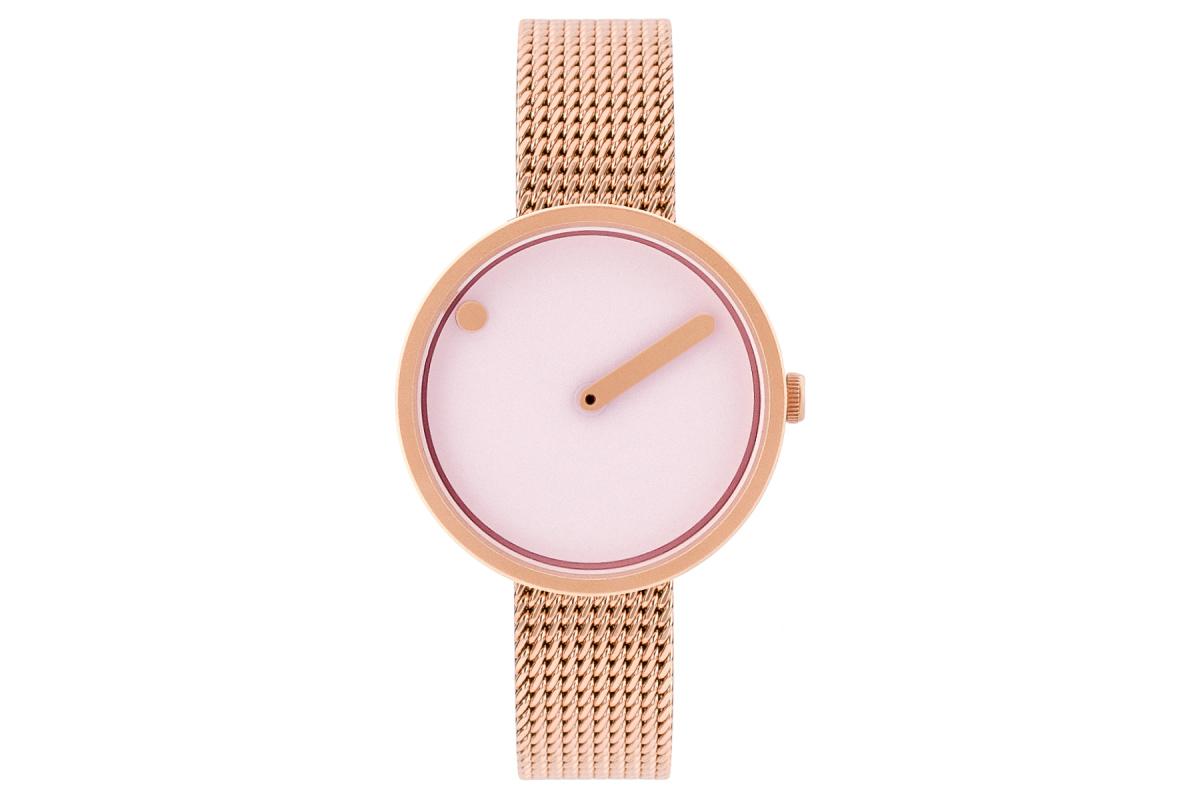 PICTO Designeruhr - Rosé-Pink / Rosé-Gold - 30mm