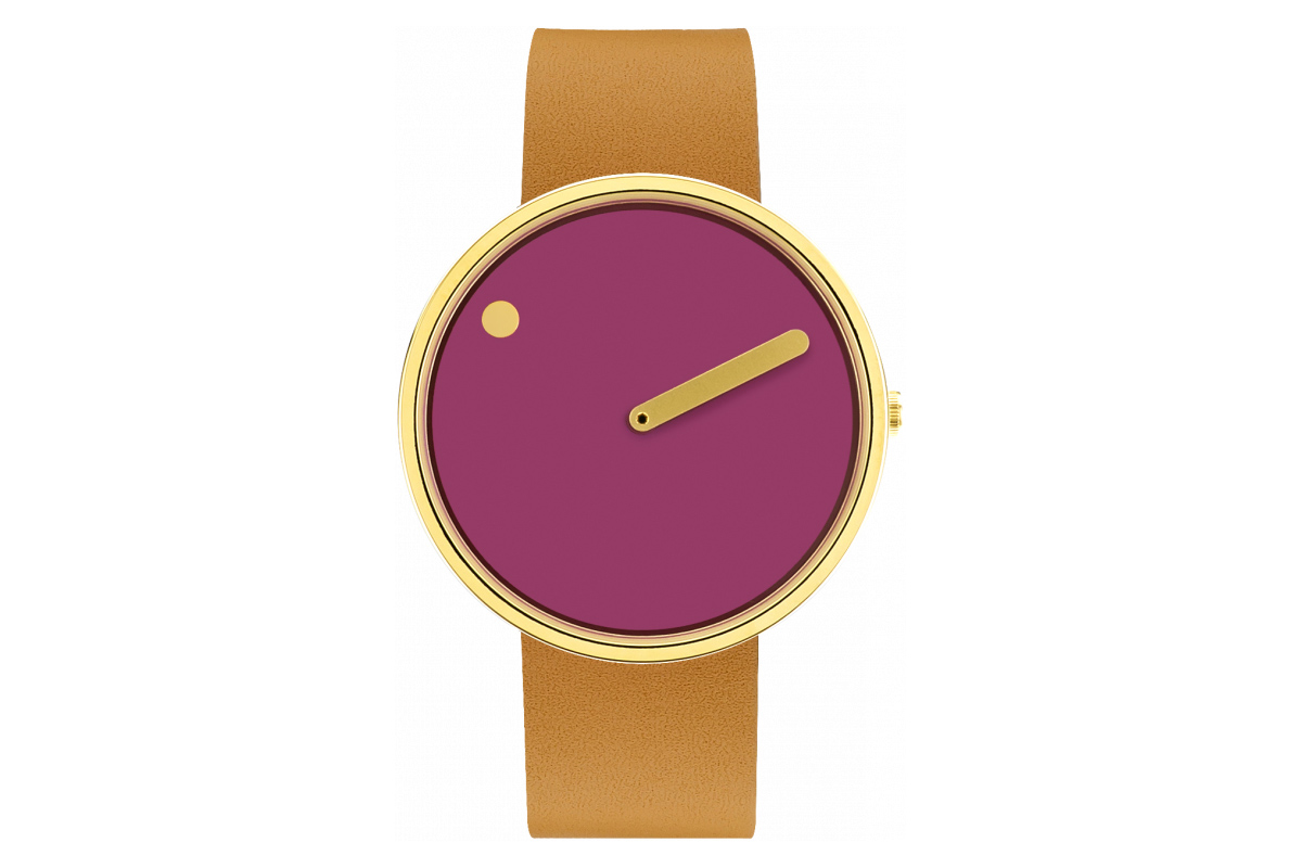 PICTO Designeruhr - Pink / Matt-Gold - 40mm